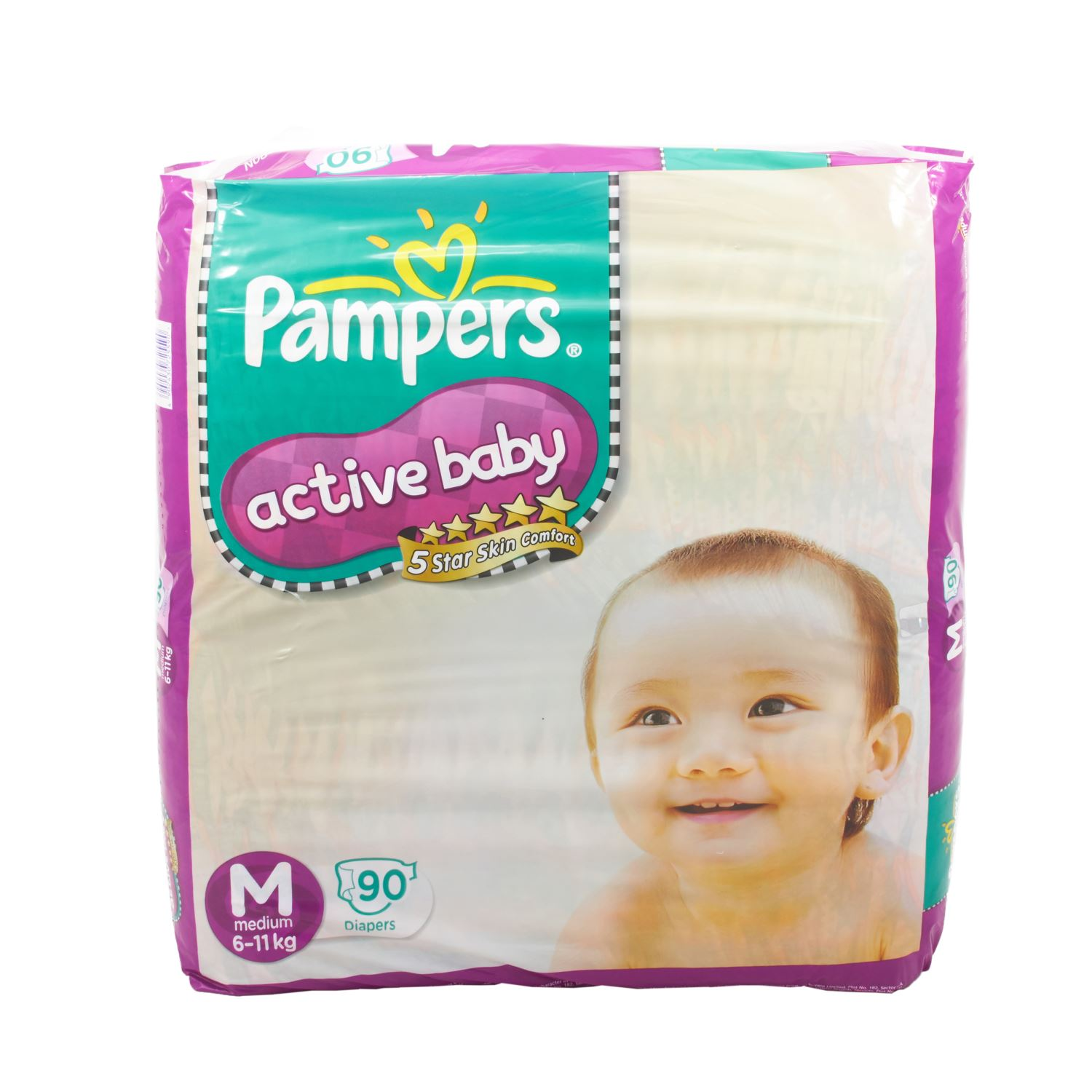 Pampers Active Baby Diapers Medium - 90 Nos