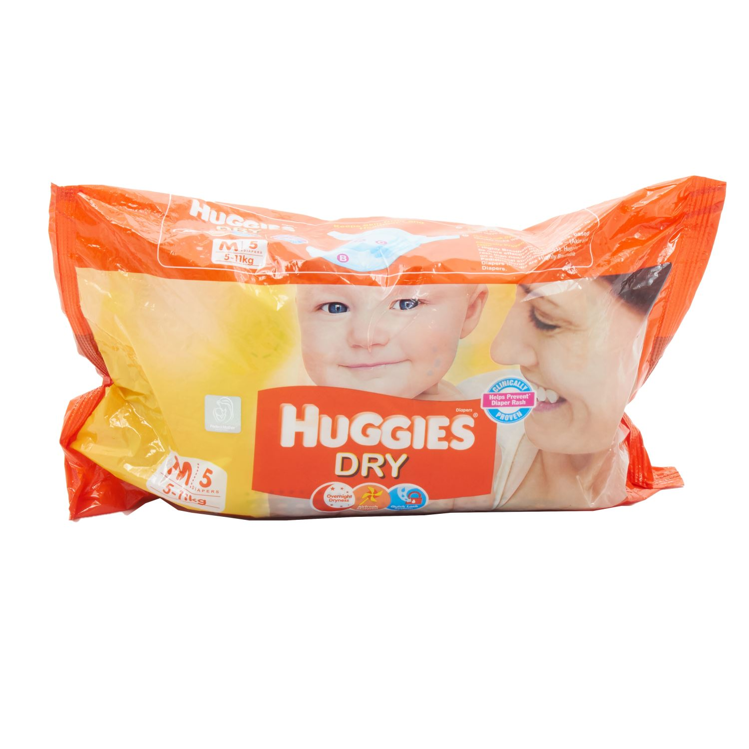 Huggies Dry Diapers Medium - 5 Nos