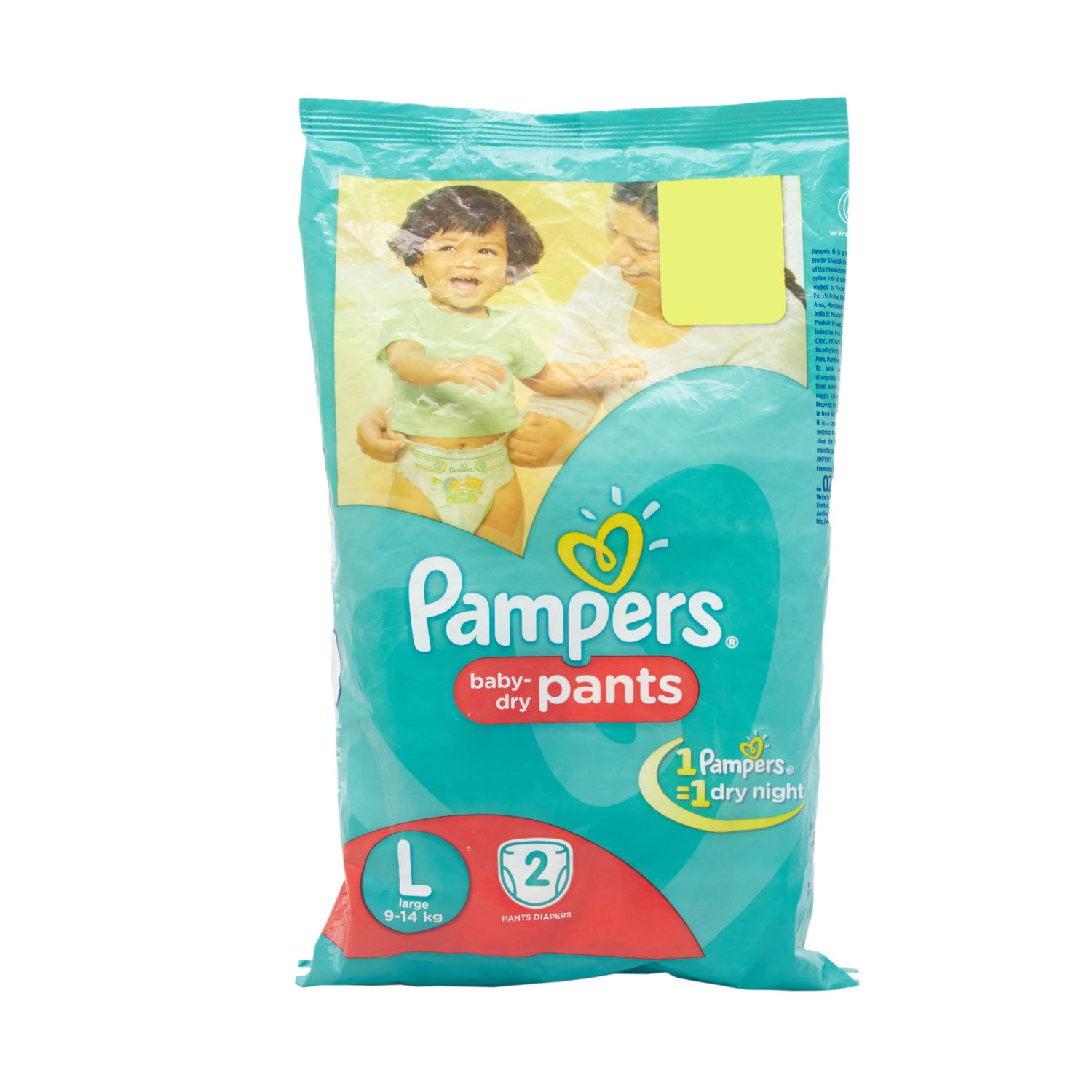 Pampers Pants Style Diapers Large -  2 Nos