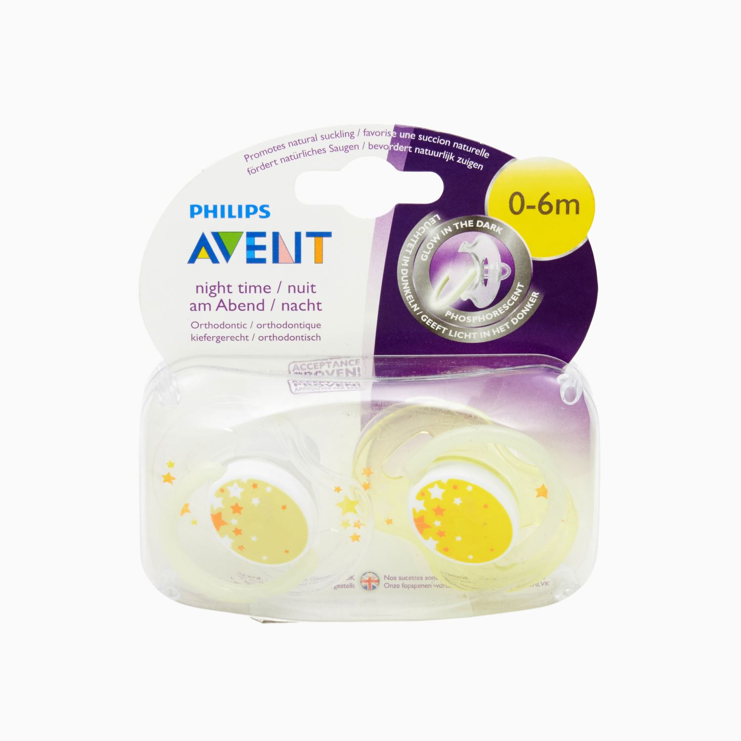 Avent Scf176/18 Night Soother 3 - 6 Months - 2 Nos