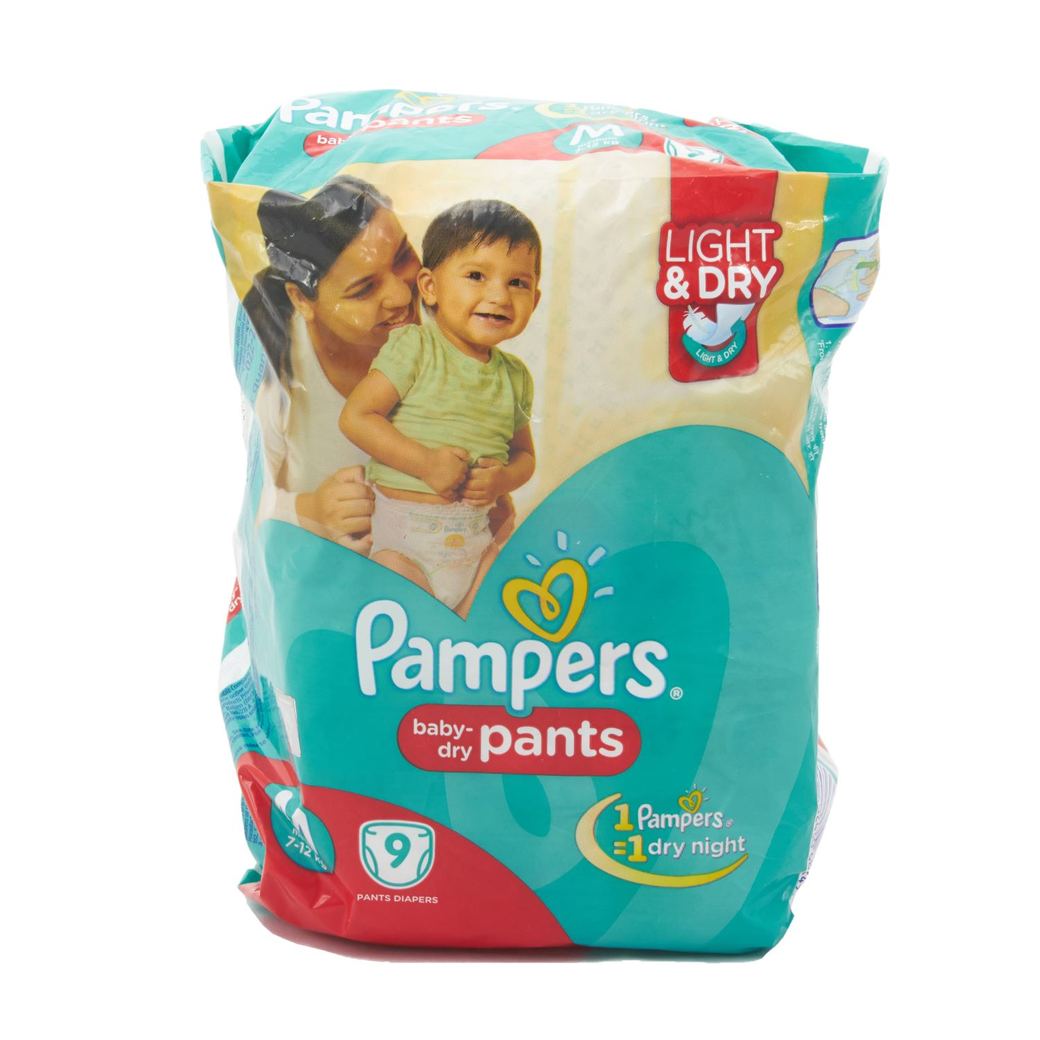 Pampers Pants Style Diapers Medium - 9 Nos