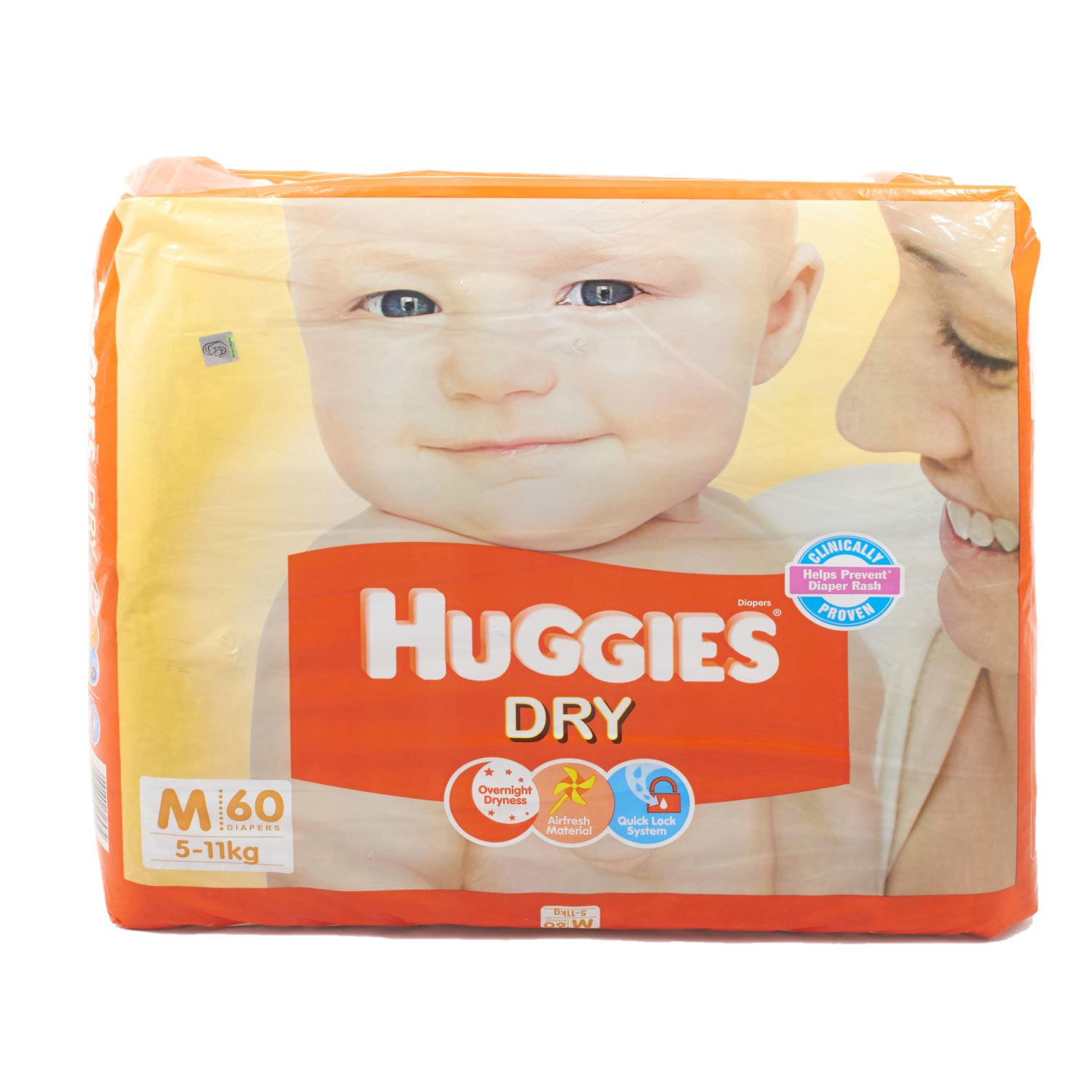 Huggies Dry Diapers Medium - 62 Nos