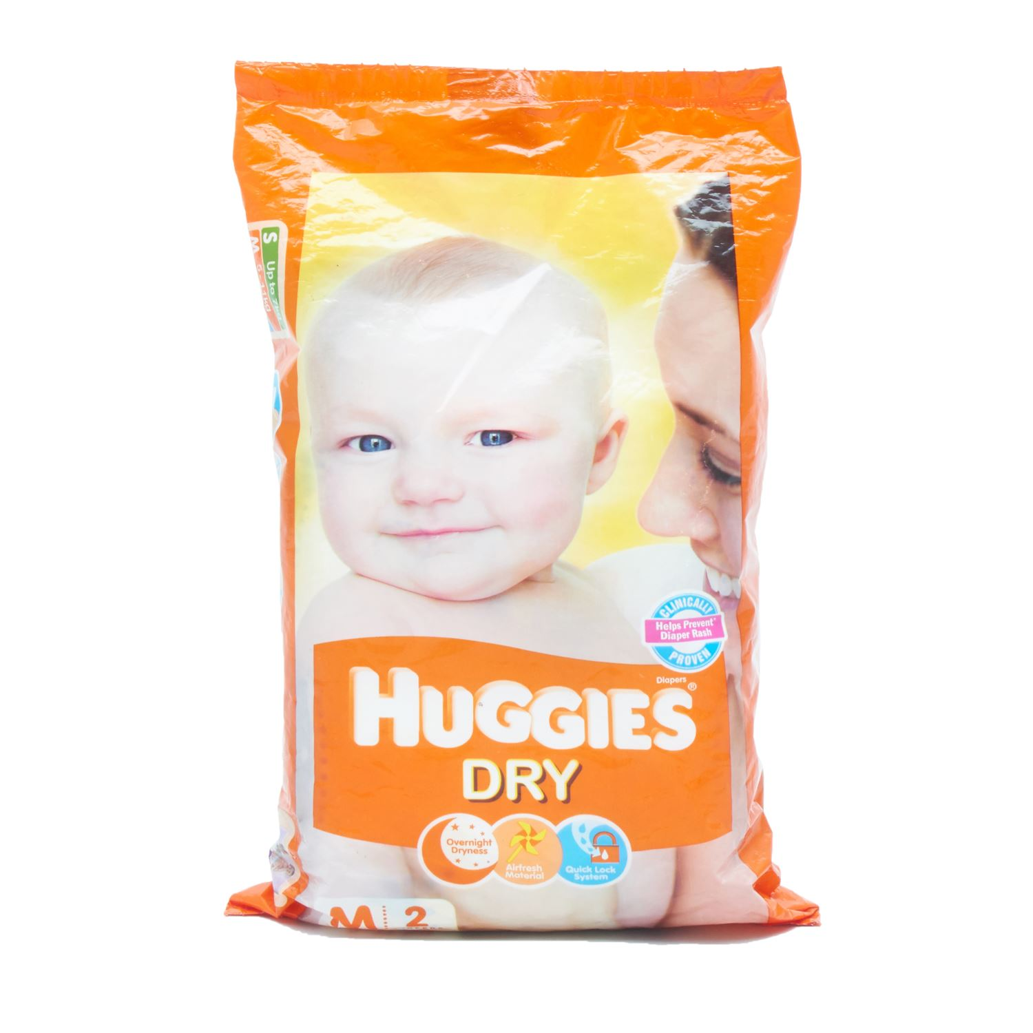 Huggies Dry Diapers Medium - 2 Nos