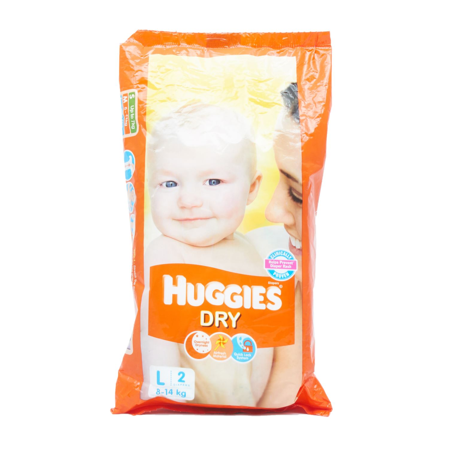 Huggies Dry Diapers Large - 2 Nos