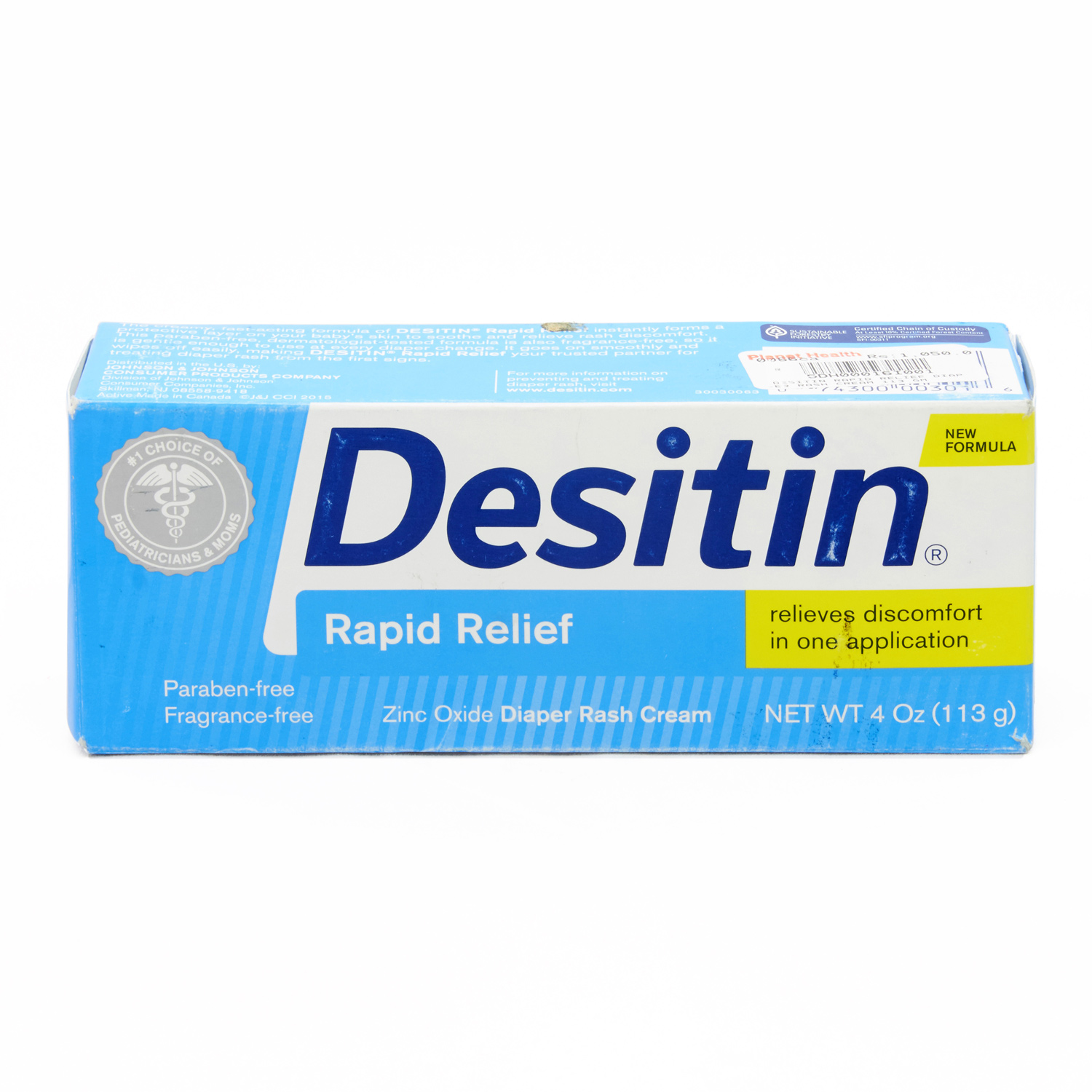 Desitin Rapid Relief Diaper Rash Cream - 113 gm