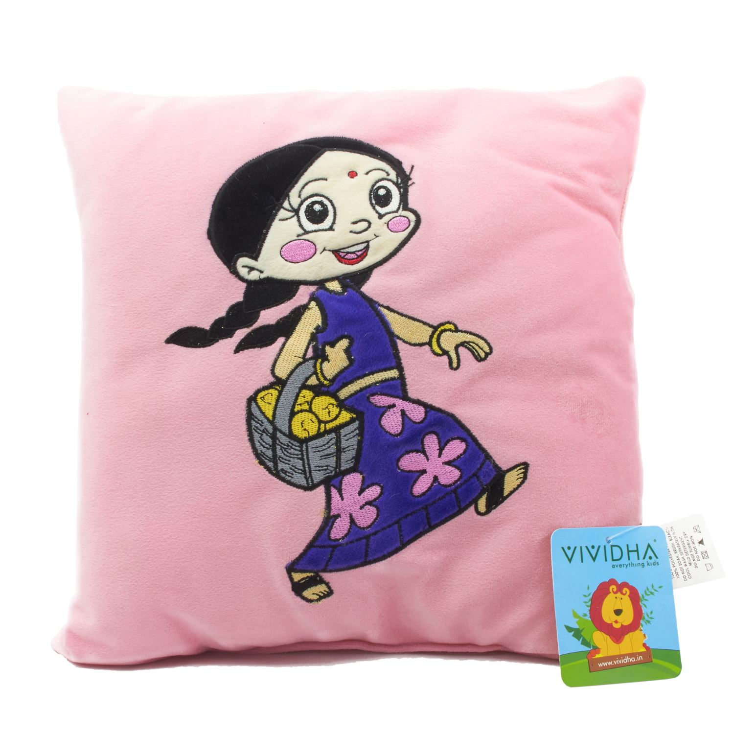 Vividha Stuffed Cushion Cb-Chutki 36X36 Cms Pink