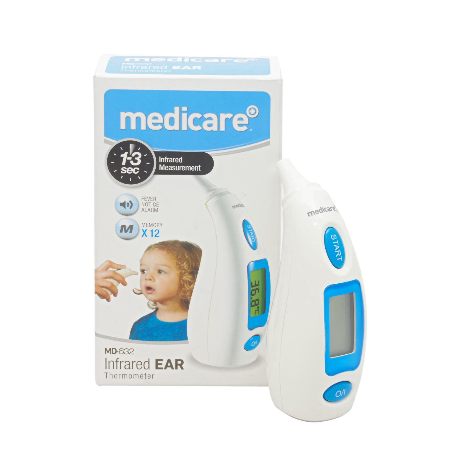 Medicare+ Infrared Ear Thermometer MD632
