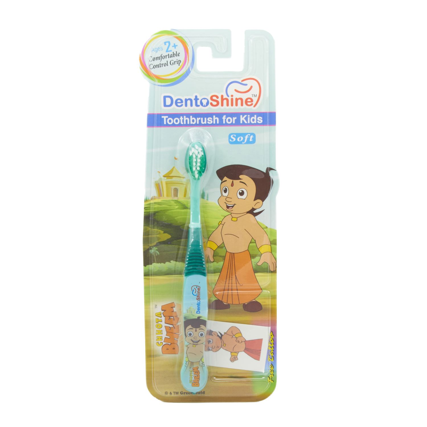Dentoshine Comfortable Control Grip Toothbrush 2 Year+