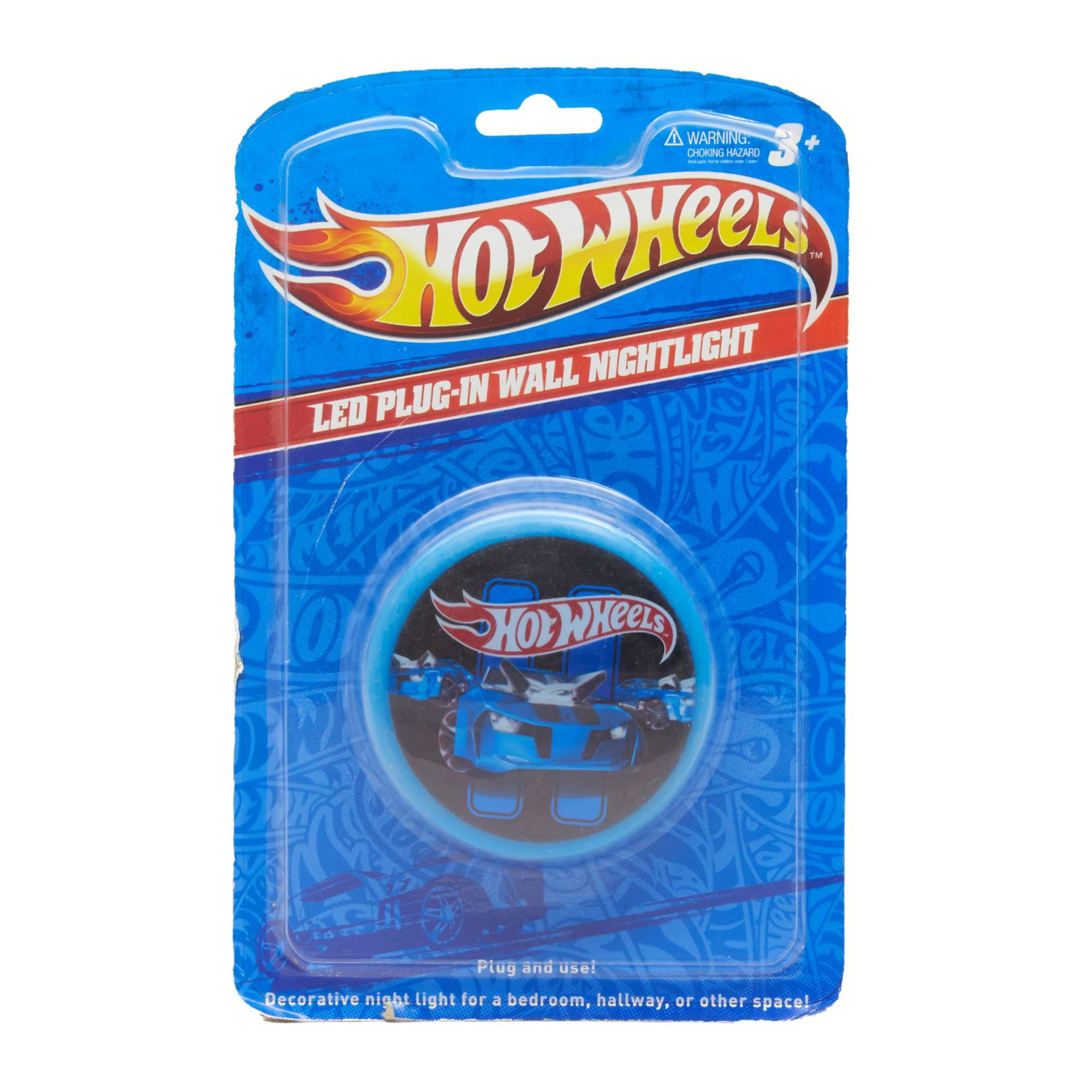 Hot Wheels LED Plug-in Wall Night Lamp