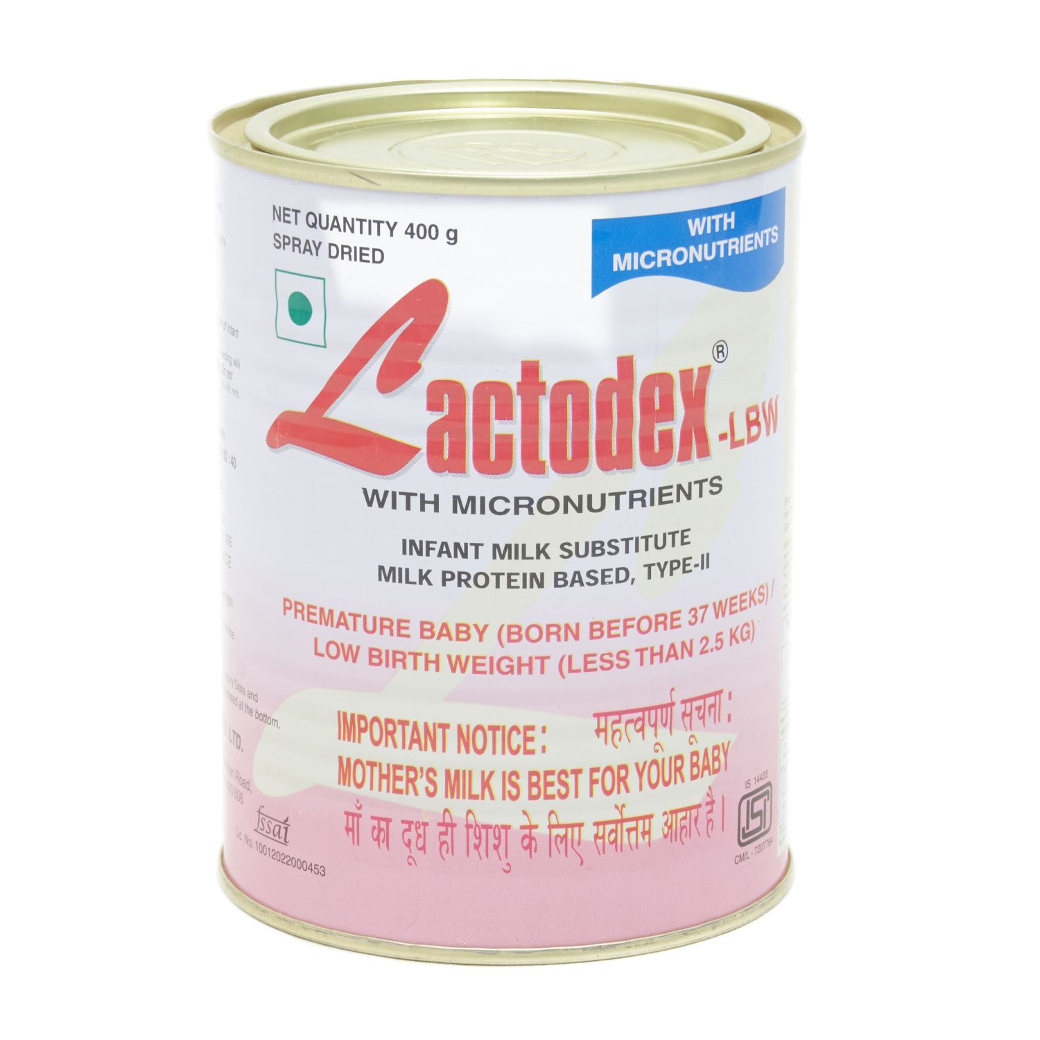 Lactodex Low Birth Weight Powder - 400 gm