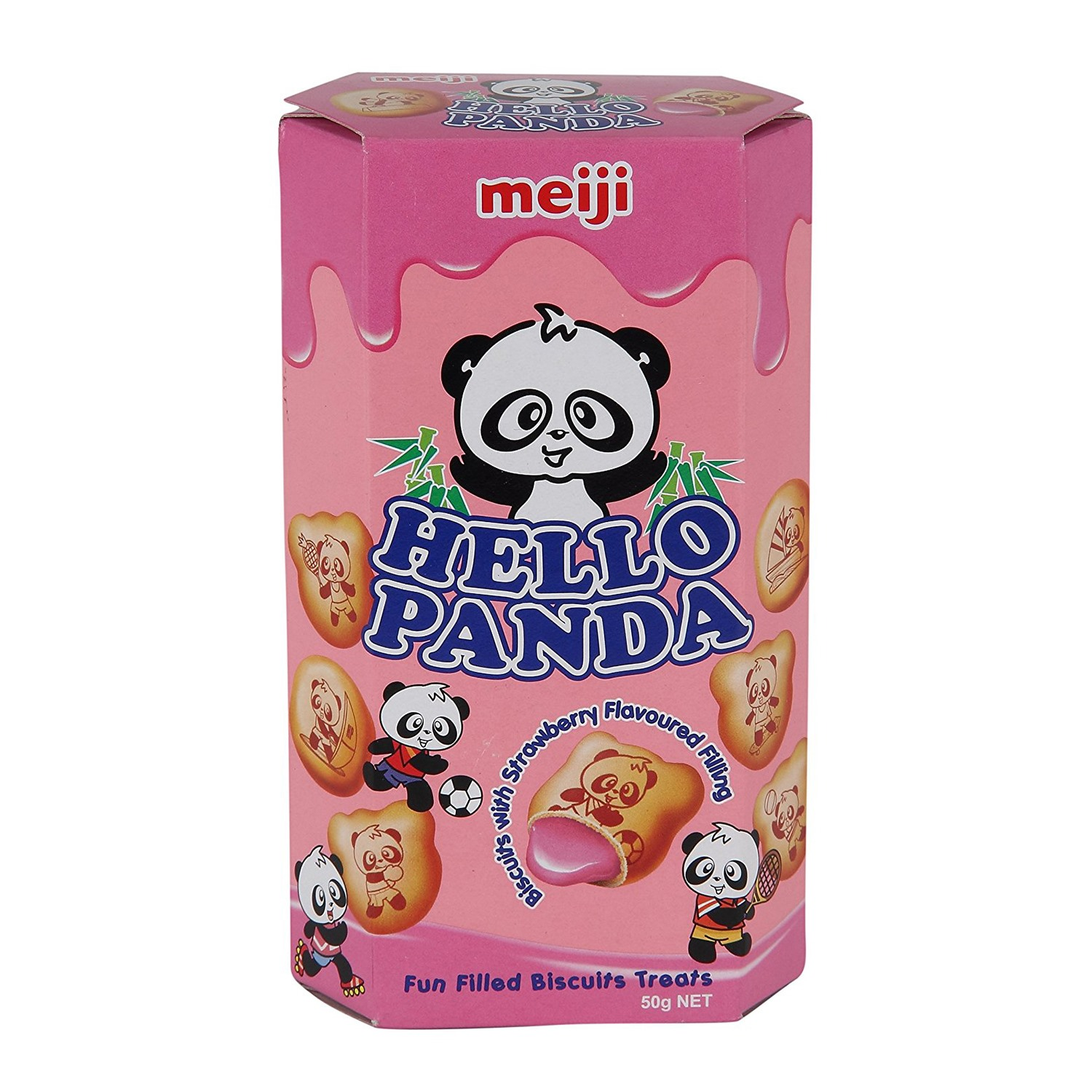 Hello Panda Strawberry Biscuit - 50 gm