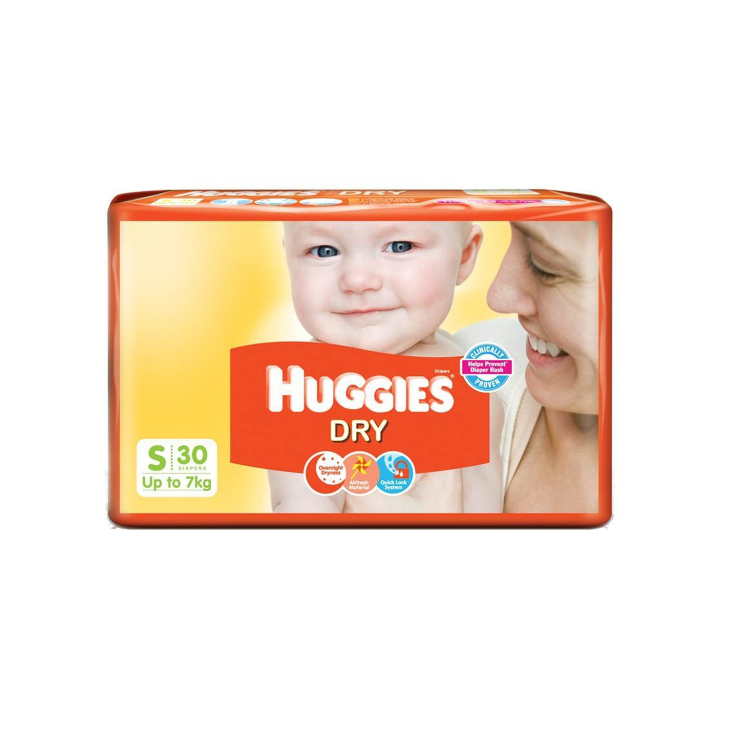 Huggies Dry Diapers Small - 30 Nos