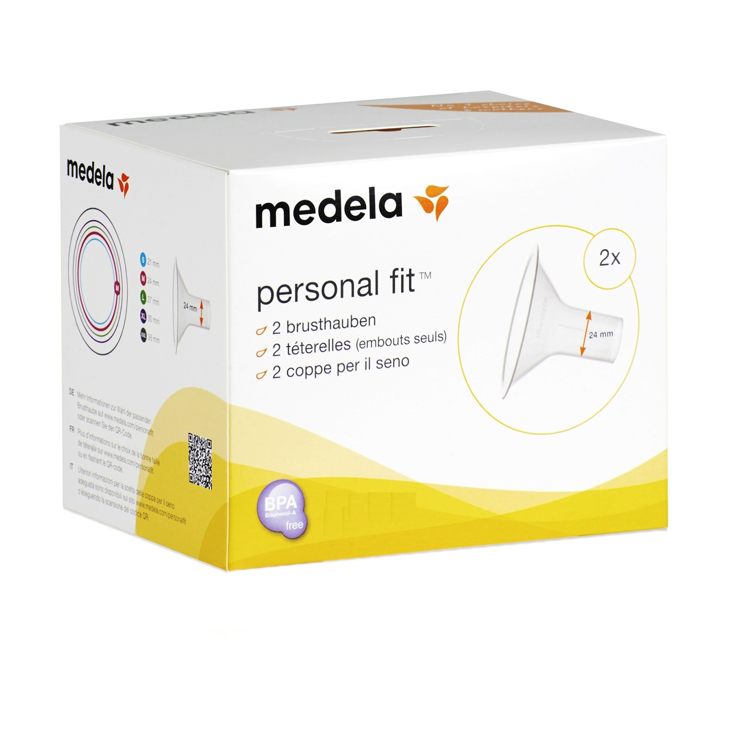 Medela Personal Fit Brestshield Medium (24 Mm) - 2 Nos