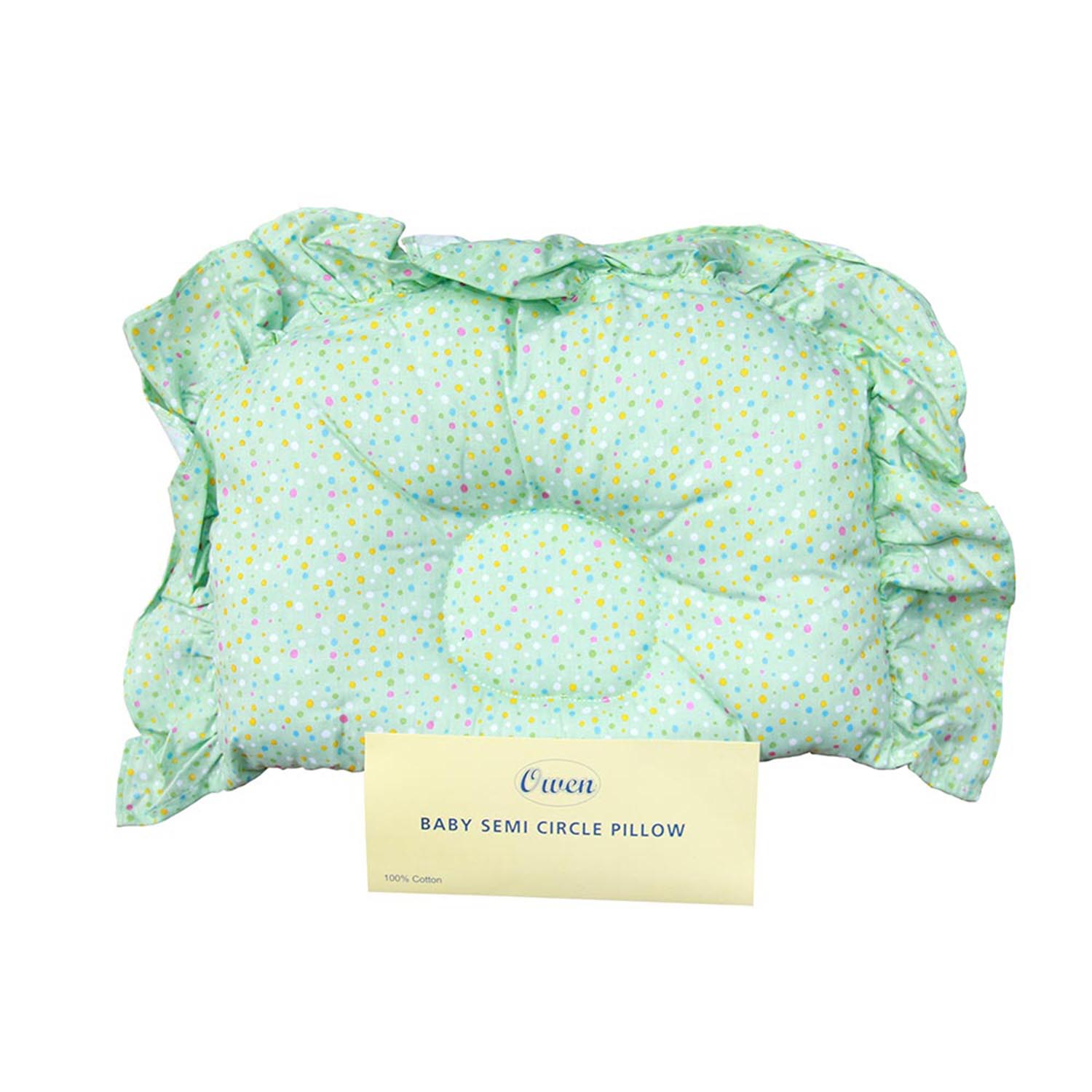 Owen Semi Circle Pillow Light Green
