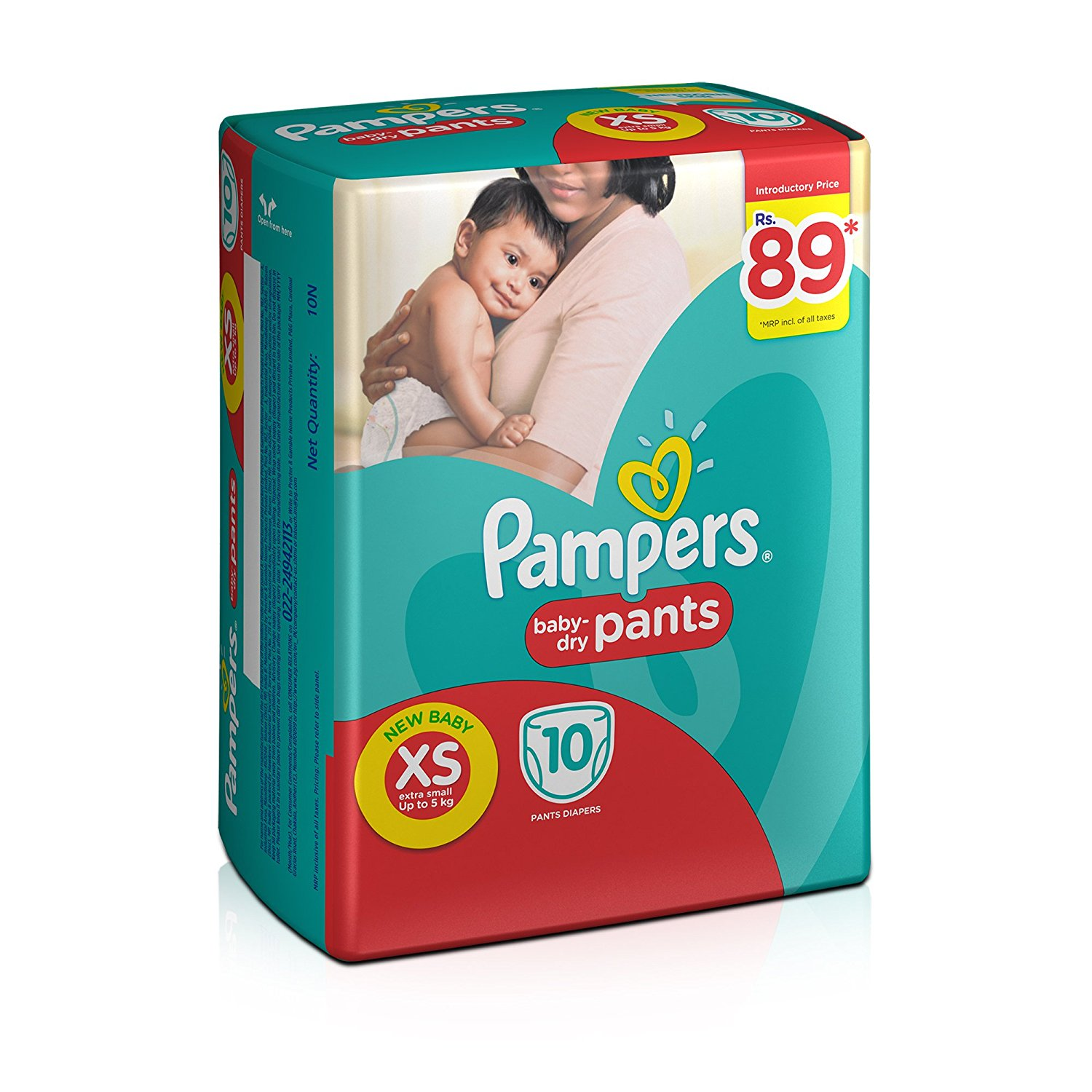 Pampers Dry Pants Diapers XS - 10 Nos