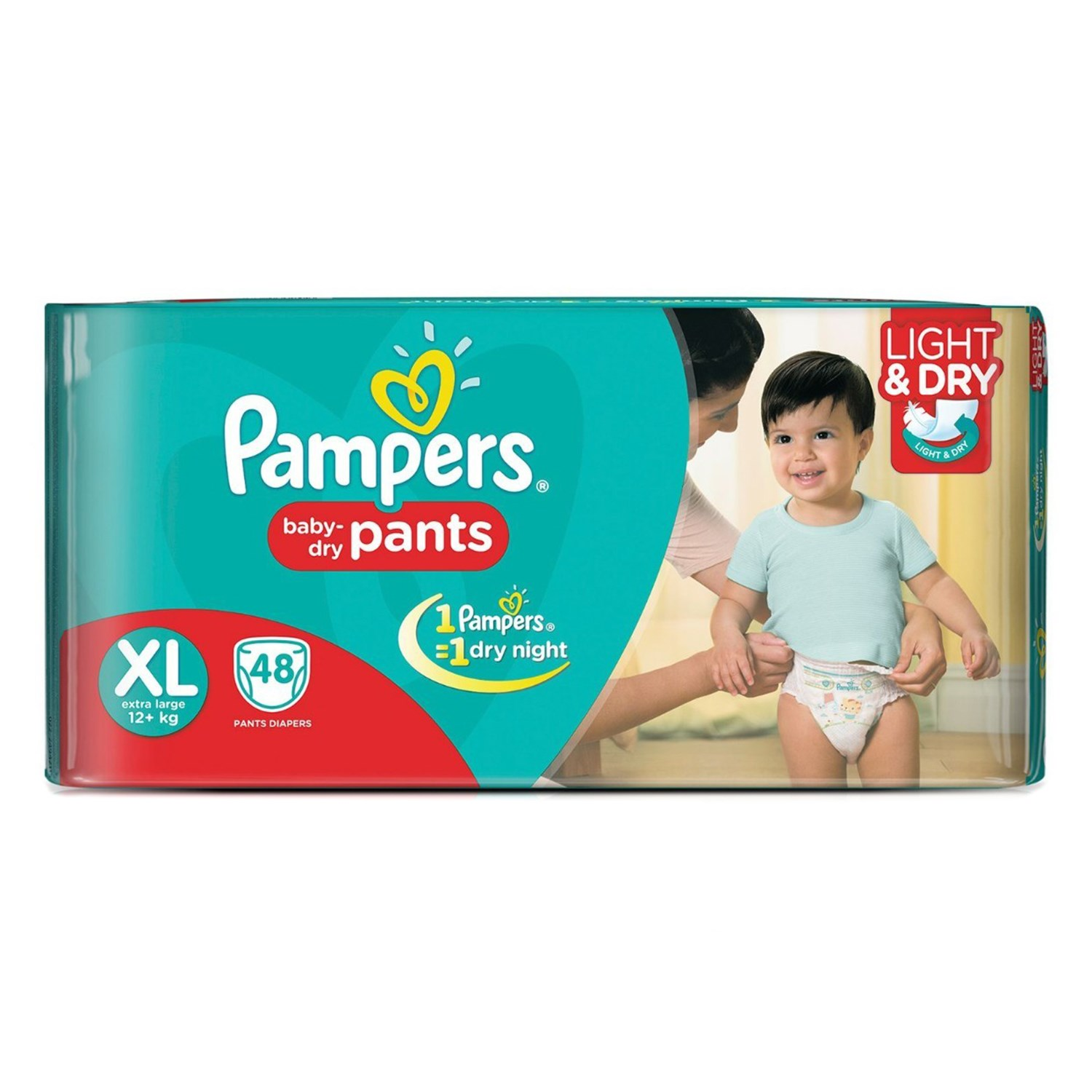 Pampers Pant Style Diapers XL - 48 Nos
