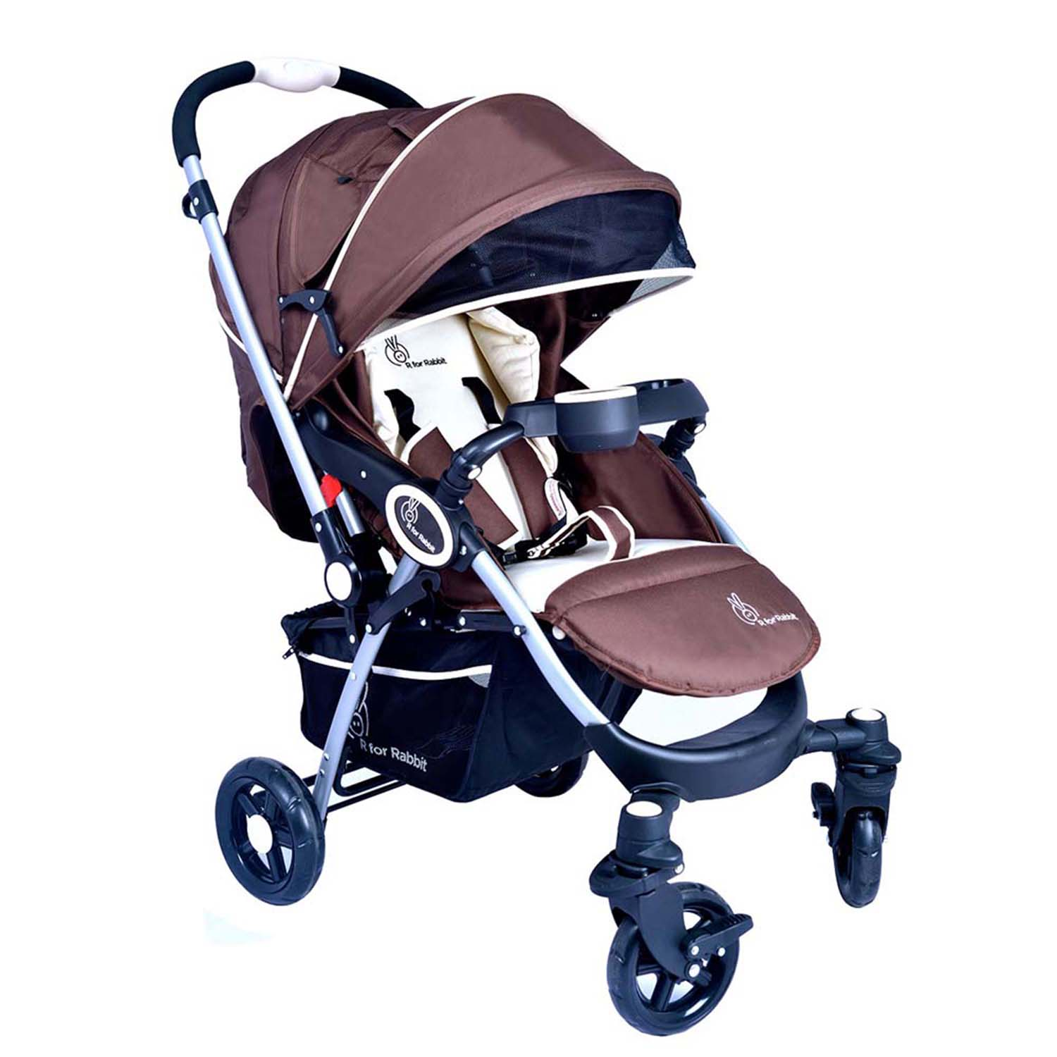 R For Rabbit Chocolate Ride Stroller Brown