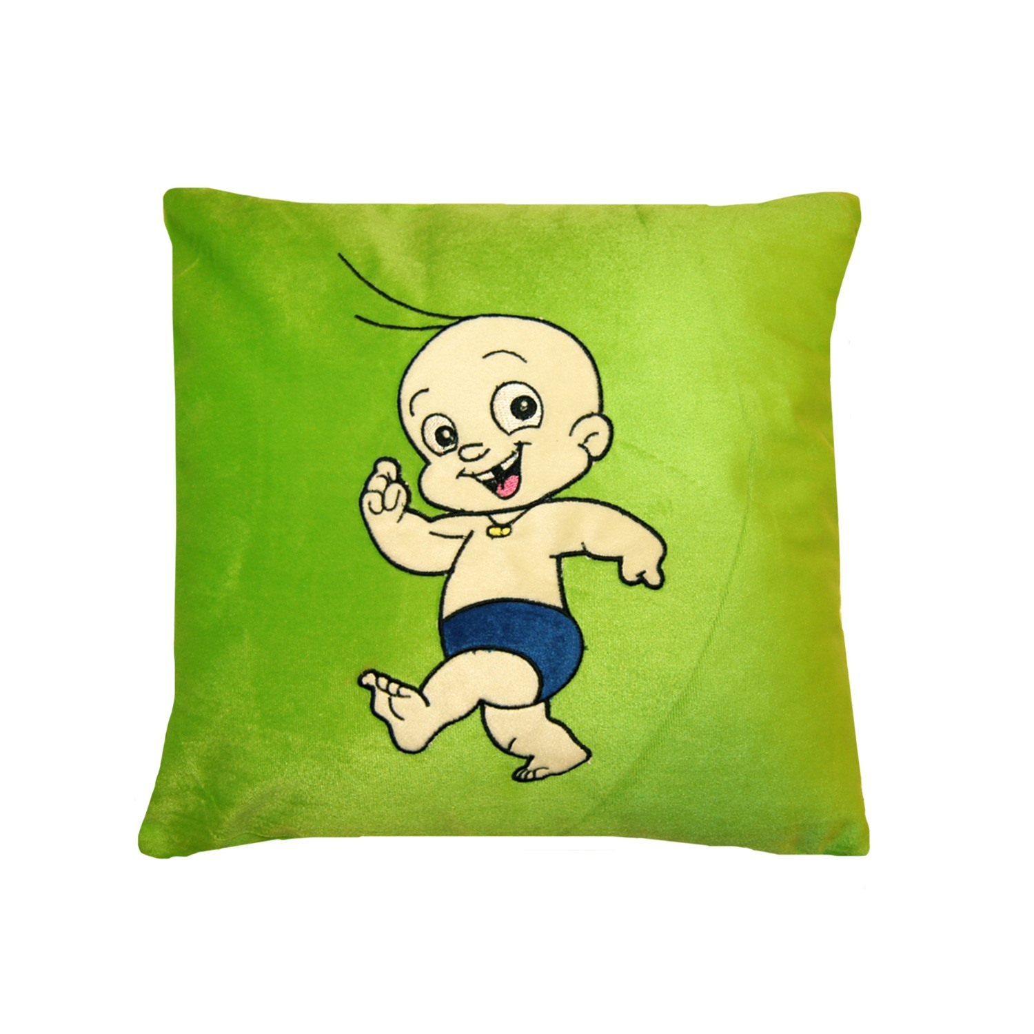 Vividha 455 Stuffed Cushion Cb-Jungle 36X36 Cms Green